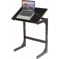 Acero Bianco Cikonielf Scrivania per Laptop in Piedi Regolabile Laptop Table Tavolino 71-107 cm Altezza Regolabile Tavolo Porta Laptop su Ruote per Letto e Divano con Supporto dello Schermo