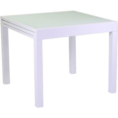 Tavoli Di Plastica Quadrati.Tavolo Quadrato Allungabile Da Giardino 90x90 Cm In Alluminio