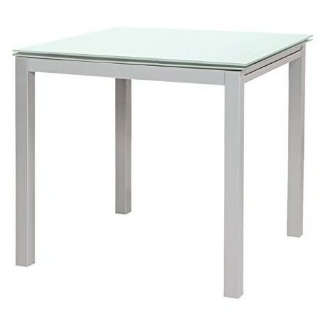 Tavolo Quadrato Allungabile Bianco.Tavolo Quadrato Allungabile Fast Evolution In Vetro Bianco 175295