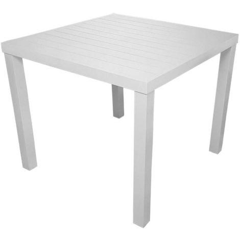 Tavolo Bianco 80x80 Allungabile.Tavolo Quadrato Da Giardino 80x80 Cm In Alluminio Vorghini San