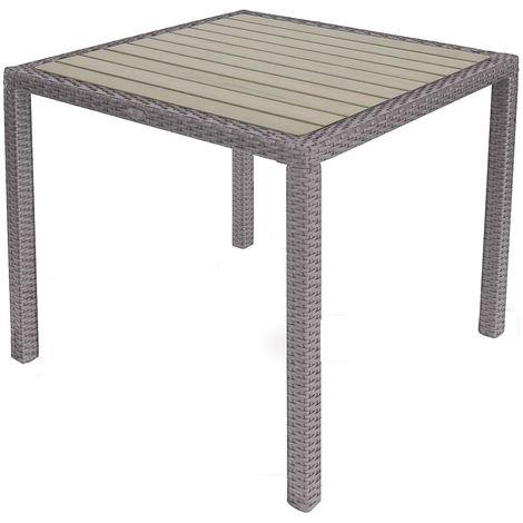 Tavolo Quadrato Da Esterno.Tavolo Quadrato Da Giardino 80x80 Cm In Wicker Vorghini Orleans Avana