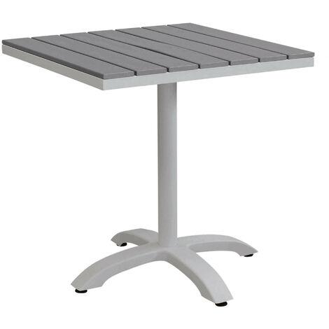Tavolo Quadrato Da Esterno.Tavolo Quadrato In Alluminio Tortora E Polywood Grigio Da Esterno