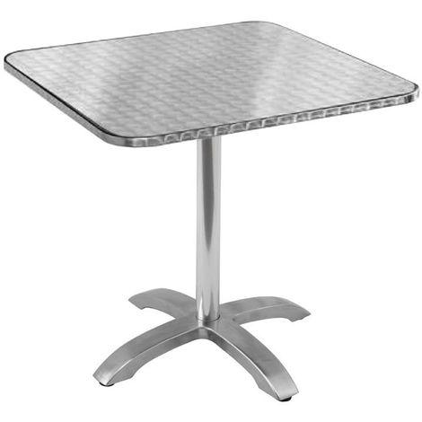 Tavoli Pieghevoli In Alluminio.Tavolo Quadrato Pieghevole Da Giardino In Alluminio E Acciaio