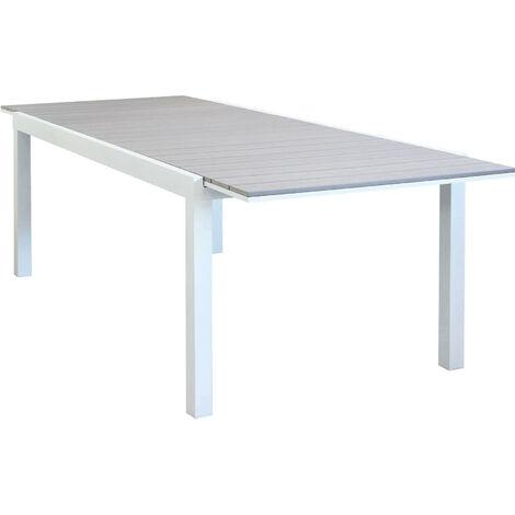 Tavolo Bianco Da Esterno.Tavolo Rettangolare Allungabile In Alluminio Bianco E