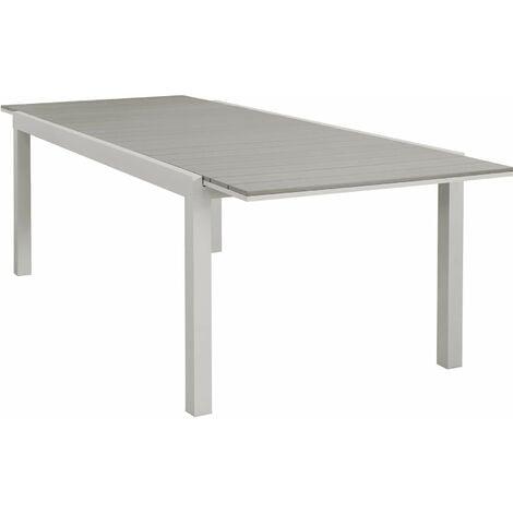 Tavoli Per Terrazzo Allungabili.Tavolo Rettangolare Allungabile In Alluminio E Polywood Tortora 180