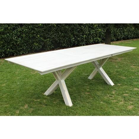 Tavolo Legno Bianco Esterno.Tavolo Rettangolare Allungabile In Legno Di Acacia 150 200 X 90