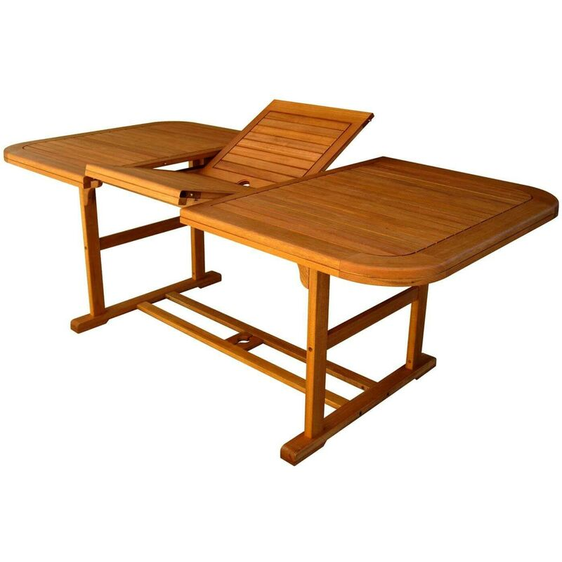 Tavolo Per Esterno Allungabile.Tavolo Rettangolare Allungabile In Legno Di Acacia 150 200 X 90