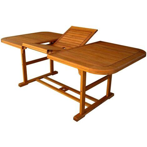 Tavolo Rettangolare Legno Allungabile.Tavolo Rettangolare Allungabile In Legno Di Acacia 150 200 X 90 Per