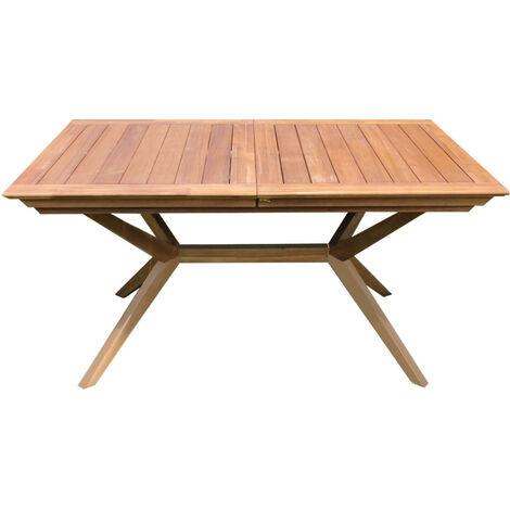 Tavolo Esterno Allungabile Legno.Tavolo Rettangolare Allungabile In Legno Di Acacia 180 240 X 90 Per