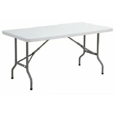 Tavoli Con Gambe Richiudibili.Tavolo Rettangolare Con Gambe Pieghevoli Misure 183x76xh74