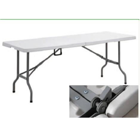 Tavoli Con Gambe Richiudibili.Tavolo Rettangolare Con Piano E Gambe Pieghevoli Misure 122x61xh74