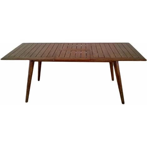 Tavolo Rettangolare Legno Allungabile.Tavolo Rettangolare Da Giardino Allungabile 240x100cm In Legno