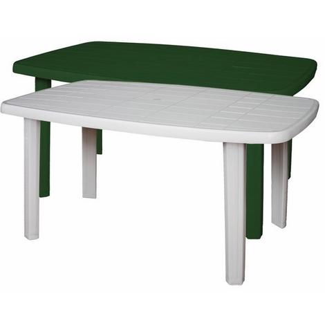 Tavoli Per Esterno In Plastica.Tavolo Rettangolare Da Giardino In Resina Col Bianco Mod Sorrento
