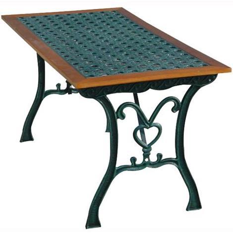 Tavoli Da Giardino In Ghisa.Tavolo Rettangolare Da Giardino Mod Rattan Arc In Ghisa 110x65xh 60cm