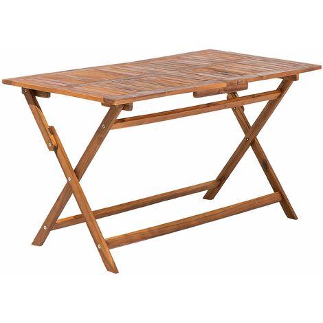 Tavolo rettangolare in legno di acacia 140x75cm CENTO 80341