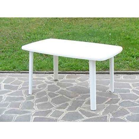 Tavoli Di Plastica Per Esterno.Tavolo Rettangolare In Resina Di Plastica Bianco Per Esterno Da