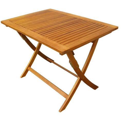 Tavolo Esterno Pieghevole Legno.Tavolo Rettangolare Pieghevole In Legno Di Acacia 100 X 70 Per
