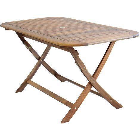 Tavoli Pieghevoli Per Ristoranti.Tavolo Rettangolare Pieghevole In Legno Di Acacia 150 X 80 Per