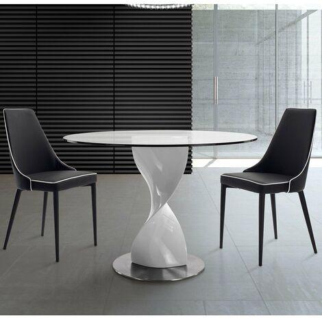 Tavolo Rotondo Vetro Design.Piano Tavolo Rotondo Vetro Al Miglior Prezzo