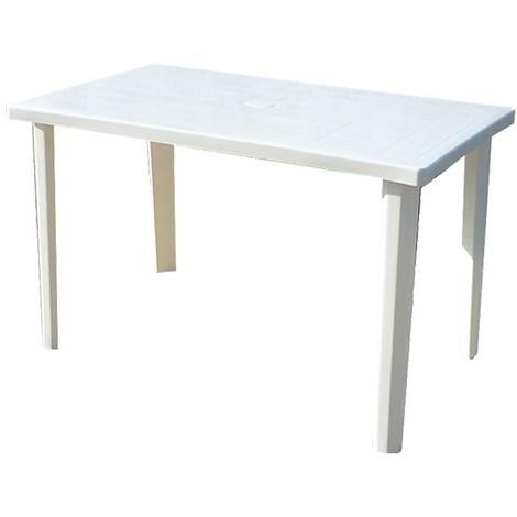 Tavolo Da Giardino Plastica Verde.Tavolo In Plastica Da Giardino Terrazzo 120x70x72h Bianco Verde