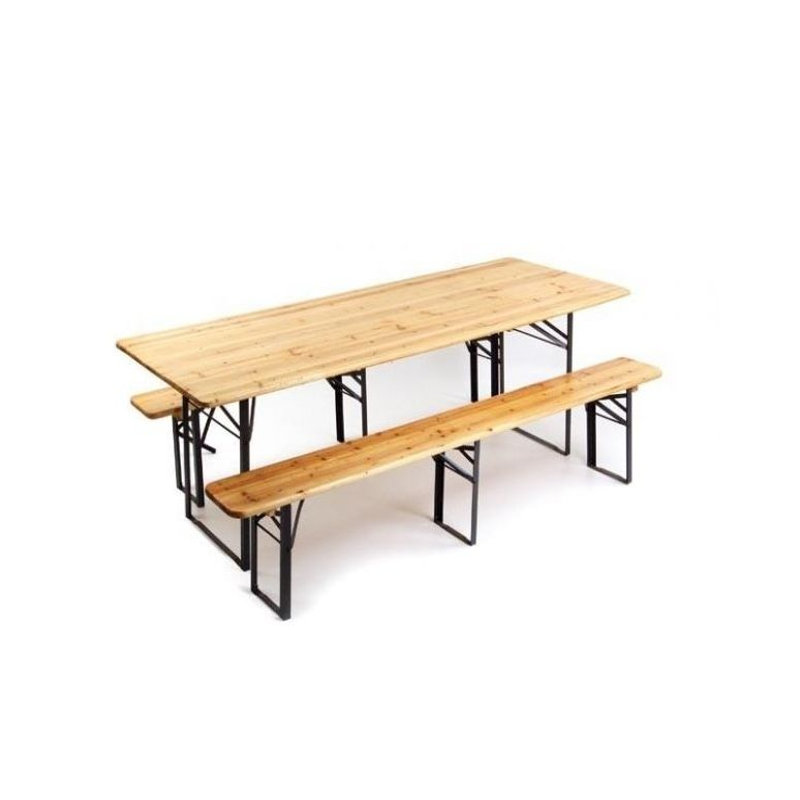 Tavolo tavola con panche tavolo birreria fiera con gambe for Gambe pieghevoli per tavoli fai da te
