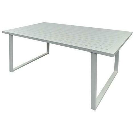 Produzione Tavoli Da Giardino.Tavolo Tavoli Alu White Cm 160x90xh74 Arredo Giardino Tavoli Da