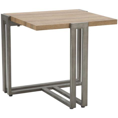 Tavoli In Legno Da Interno.Tavolo Tavolino Da Caffe In Legno E Ferro Marrone Da Interno