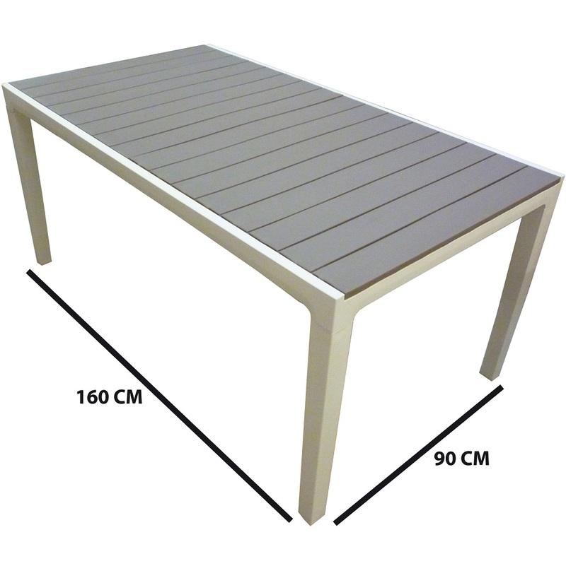 Tavoli Di Plastica Per Esterno.Tavolo Tavolino In Dura Resina Di Plastica Bianca E Tortora Per