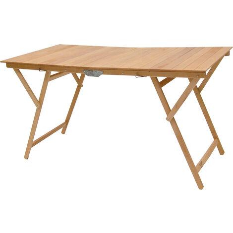 Tavoli Da Campeggio Pieghevoli In Legno.Tavolo Tavolino Pieghevole In Legno Di Faggio Naturale 70x140 Cm