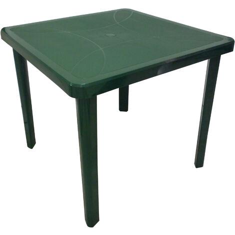 Tavolo Giardino Plastica Verde.Tavolo Tavolino Quadrato 80x80 Nettuno In Dura Resina Di Plastica Verde Con Foro Per Ombrellone Per Esterno Casa Balcone Bar Sagra Da Giardino