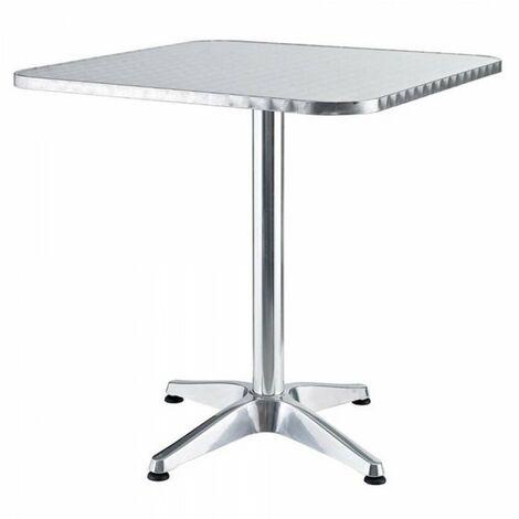 Tavolini Quadrati Bar.Tavolo Tavolino Quadrato Con Piede Centrale Per Bar Bistrot In Alluminio 60x60