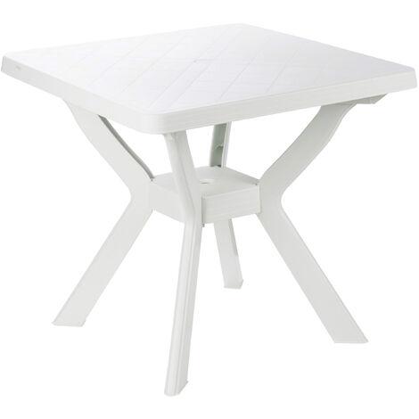 Tavolo Sedie Giardino Plastica.Sedie Da Esterno Rigoletto Colore Bianco Misura 60x60 Cm Tavolo Da
