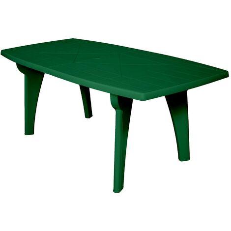 Tavolo rettangolare in resina di plastica verde o bianco x esterno giardino new