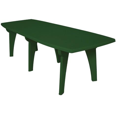 Tavoli Di Plastica Giardino.Tavolo Tavolino Rettangolare 250x90 Lipari In Dura Resina Di