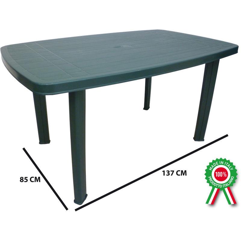 Tavolo tavolino rettangolare in resina di plastica verde ...