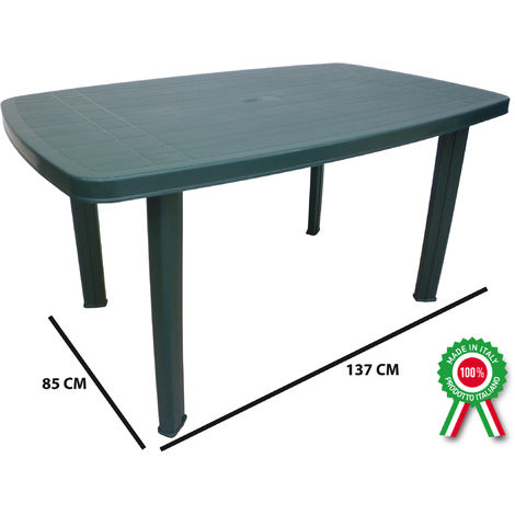 Tavolo Da Giardino In Plastica Verde.Tavolo Tavolino Rettangolare In Resina Di Plastica Verde Faro Per