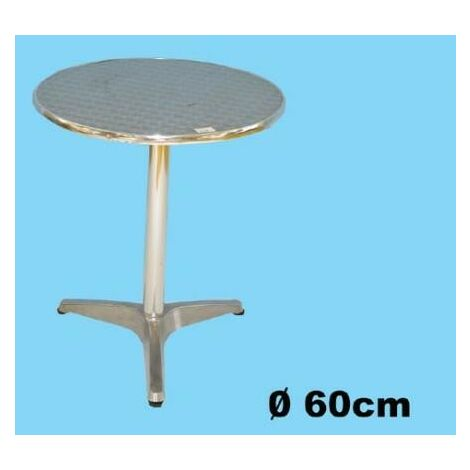 Tavolo Tondo Alluminio.Tavolo Tondo Bar D 60 In Alluminio