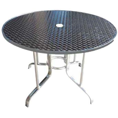 Tavolo Tondo Alluminio.Tavolo Tondo In Alluminio D 80xh70 Cm A0038005 0