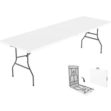 tavolo resina pieghevole altezza regolabile 122 cm
