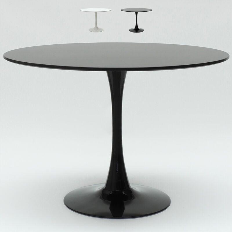 Tavolo in Rovere Gambe Tavolo Rotondo in Vetro con Tavolo da Pranzo Solido 110 x 110 x 76 cm