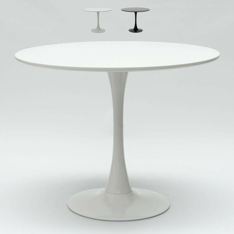 Tavolo Tulip rotondo nero e bianco per bar e soggiorno ...