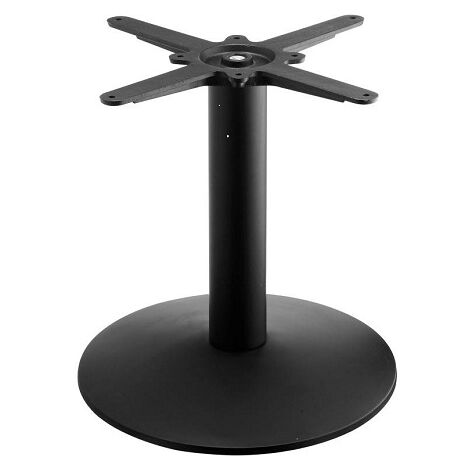 Tayzan Small Round Coffee Table Base - Black Cast Iron