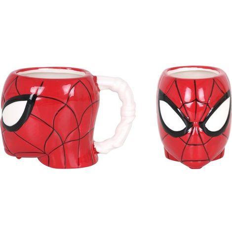 Taza CerÁmica 410ml Cabeza 3d Spiderman