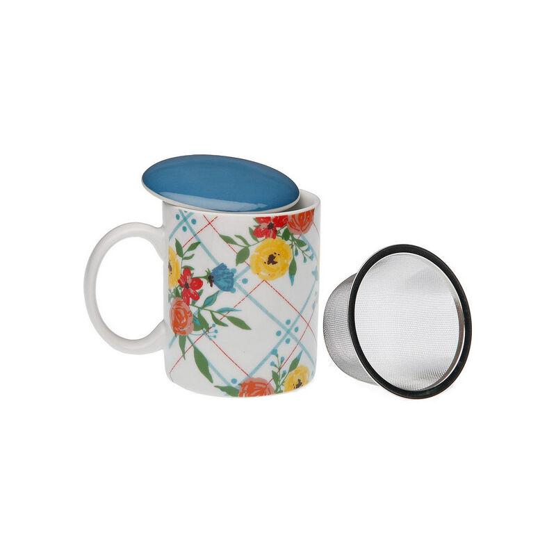Taza Con Filtro Para Infusiones Fiori Viva Porcelana - LTD