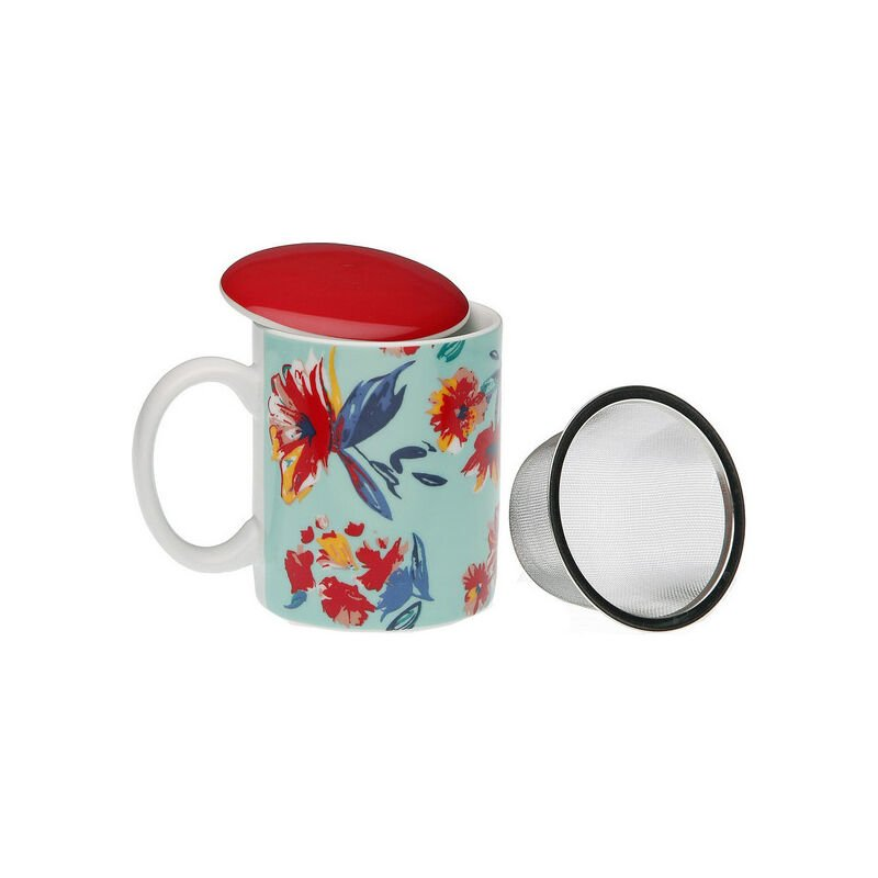 Taza Con Filtro Para Infusiones Paradise Porcelana
