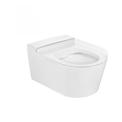 Taza de inodoro compacta suspendido RIMLESS INSPIRA Round - ROCA