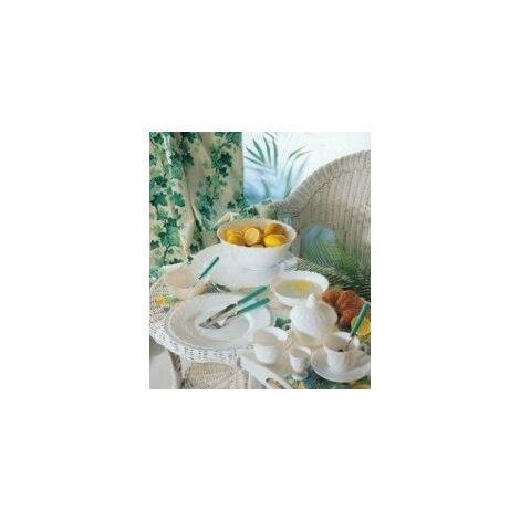 Taza Desayuno C/plato 28cl Vidrio Bl Trianon Luminarc 4 Pz