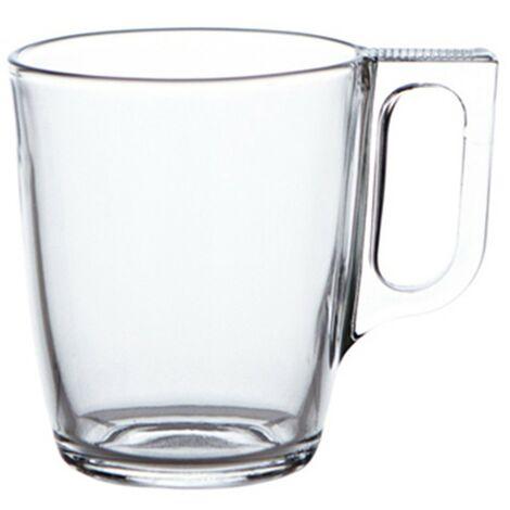 Taza mug transparente nuevo 25cl.