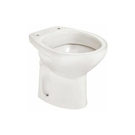 Taza para inodoro de porcelana con salida a pared - Serie Victoria , Color Blanco - Roca