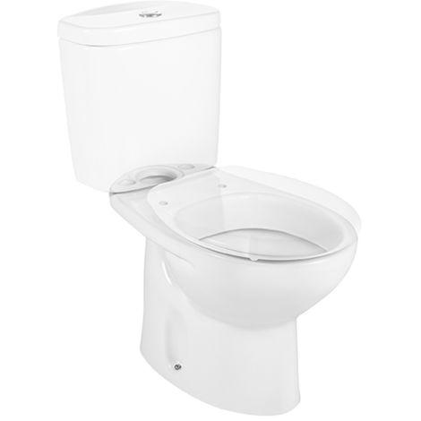 Taza para inodoro de porcelana con salida a suelo - Serie Victoria , Color Blanco - Roca